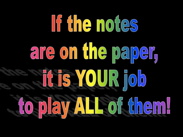 If the notes are on the paper